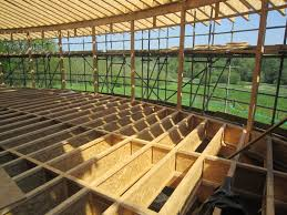 The Joists are in place at Cuerden Valley Park Visitor Centre